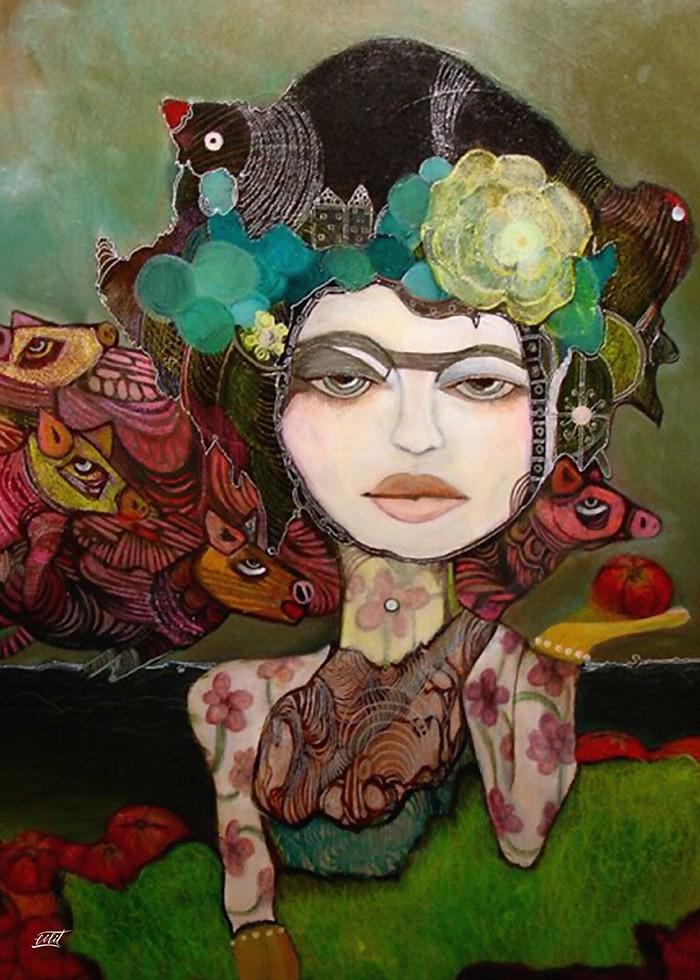 تابلو نقاشی، همنشین