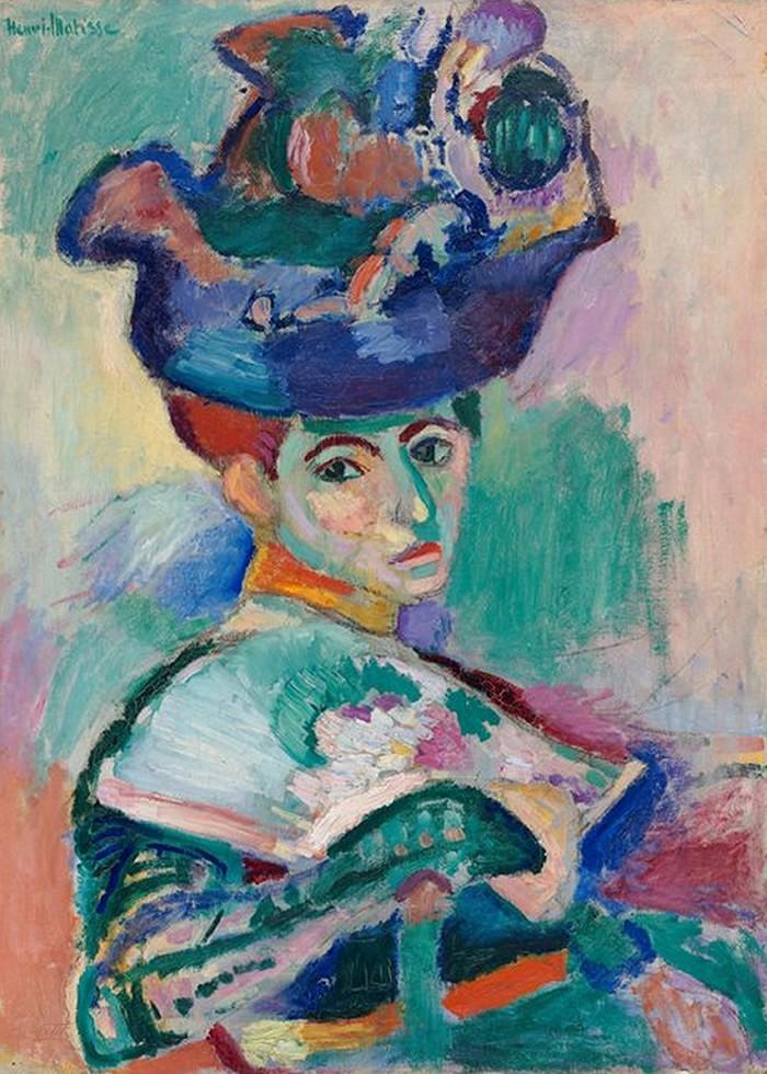 تابلو نقاشی، خانمی با کلاه