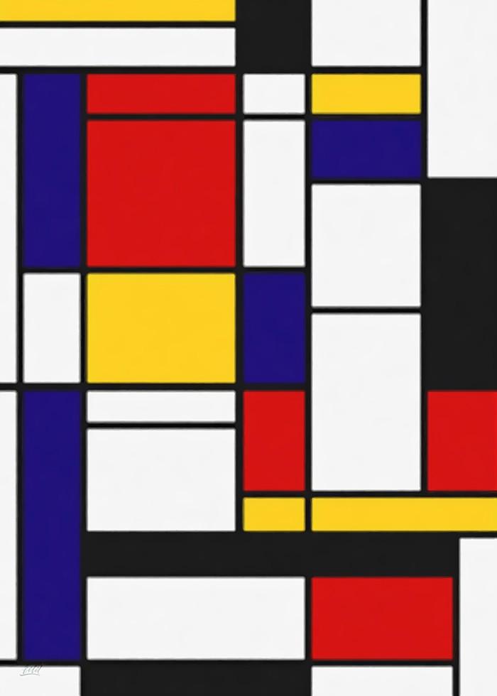 تابلو نقاشی، طرح چهارخونه 12