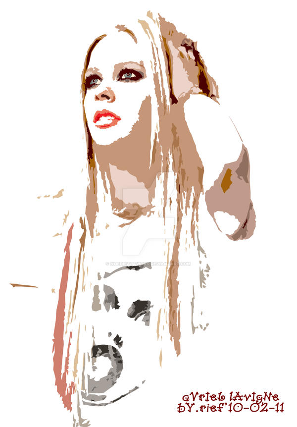 Avril Lavigne 1 by noedieartwork