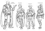 Character line-up - rough