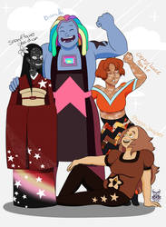 Steven Universe: Bismuth and Gems by ArmaniaMothe