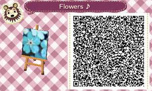 Blue Flowers QR Code