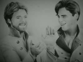 Benedick and Claudio by WednesdaySerio