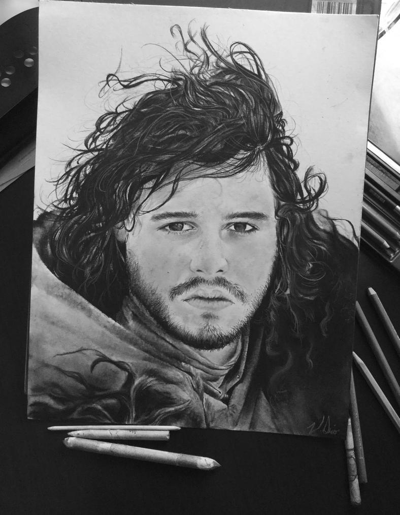 Jon Snow by WednesdaySerio