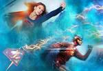Supergirl The Flash wallpaper