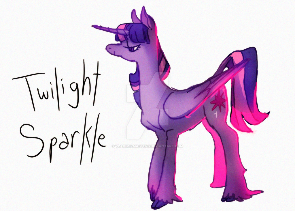 Twilight Sparklw by vladimirmasters
