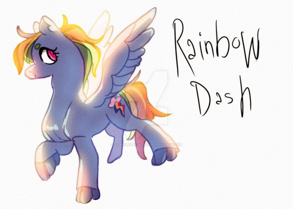 Rainbow Dash by vladimirmasters