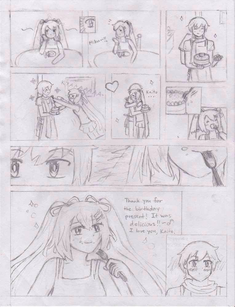 -Ugly Ver- Miku's Birthday Comic by AmiMeito-chan