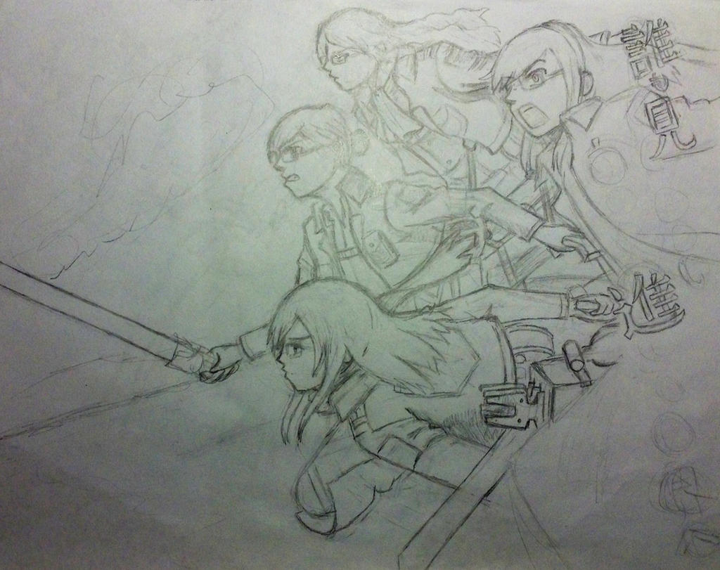 Attack with Friends WIP by AmiMeito-chan