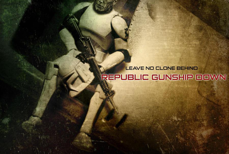 Republic Gunship Down by wintersixfour