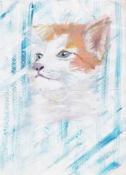 Older kitty sketch by YuLeena