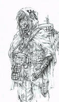 Steampunk Scout sketch by eoghankerrigan