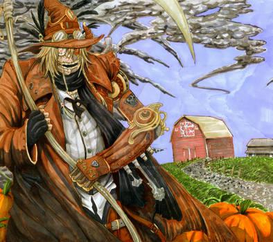 Autumn Sun Steampunk Scarecrow