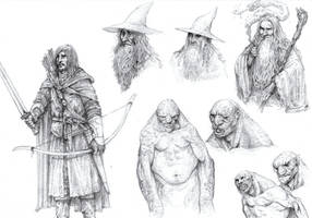 Gandalf and Stuff by eoghankerrigan