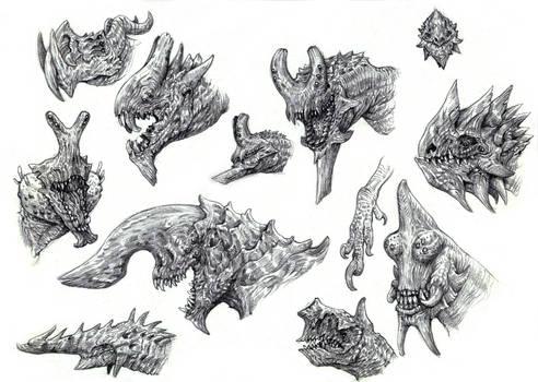 Kaiju Heads