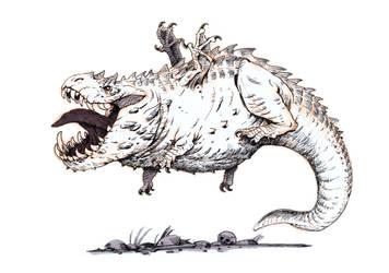 Inktober #6 - Pudgy dragon by eoghankerrigan