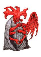 Inktober #13 - Demon by eoghankerrigan