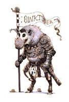 Inktober #18 - River hog knight by eoghankerrigan