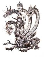 Inktober #19 - Hydra by eoghankerrigan
