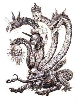 Inktober #19 - Hydra