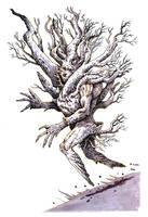 Inktober #21 - Treeman by eoghankerrigan