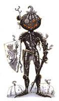 Inktober #22 - Halloween knight by eoghankerrigan