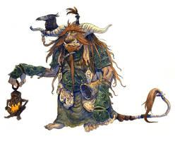 Inktober #26 - Horned troll by eoghankerrigan