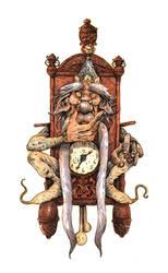 Inktober #28 - Grandfather Clock