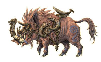 Armoured boar