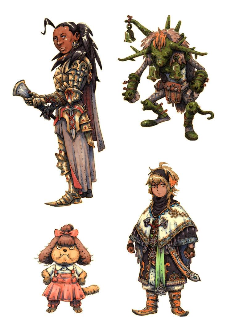 JRPG Characters 10 by eoghankerrigan