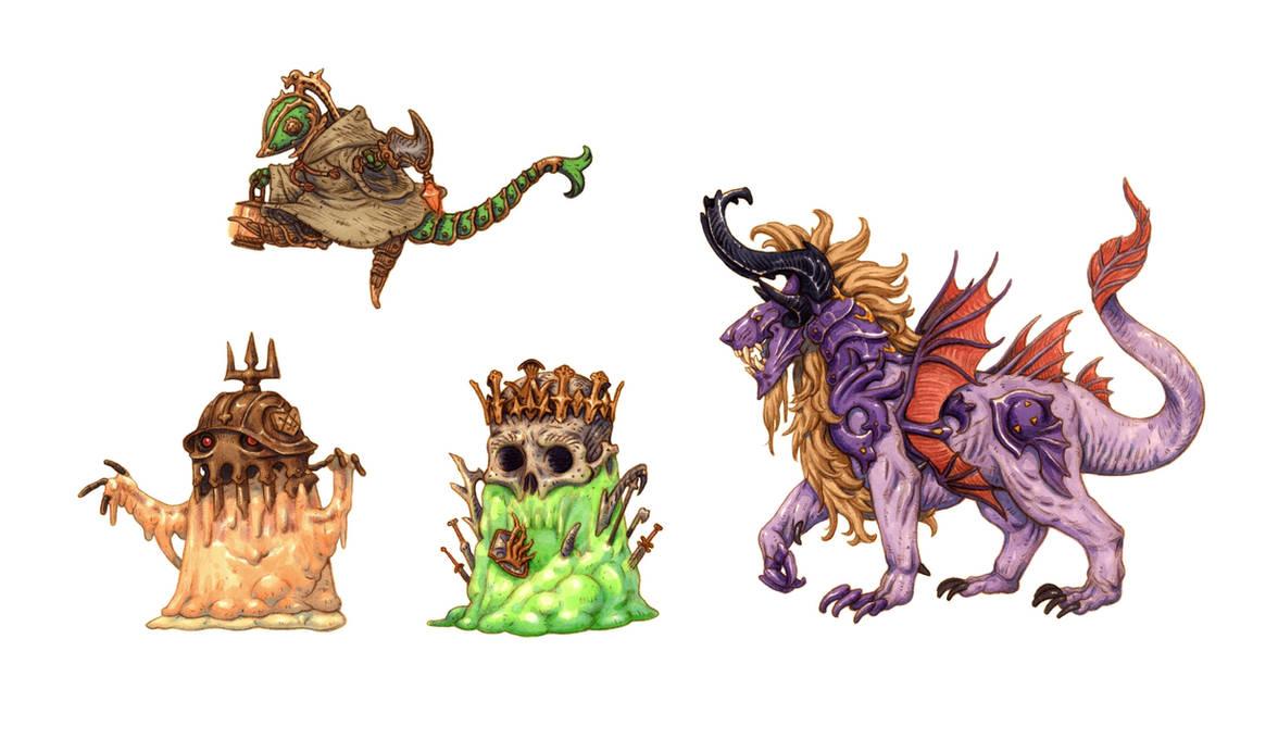 Final Fantasy monsters by eoghankerrigan
