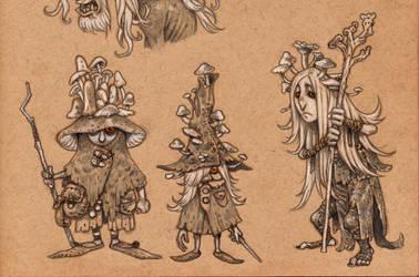 Mushroom wizards by eoghankerrigan