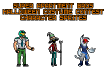 SAB Halloween Contest Character Sprites (Small) by SuperApartmentBros