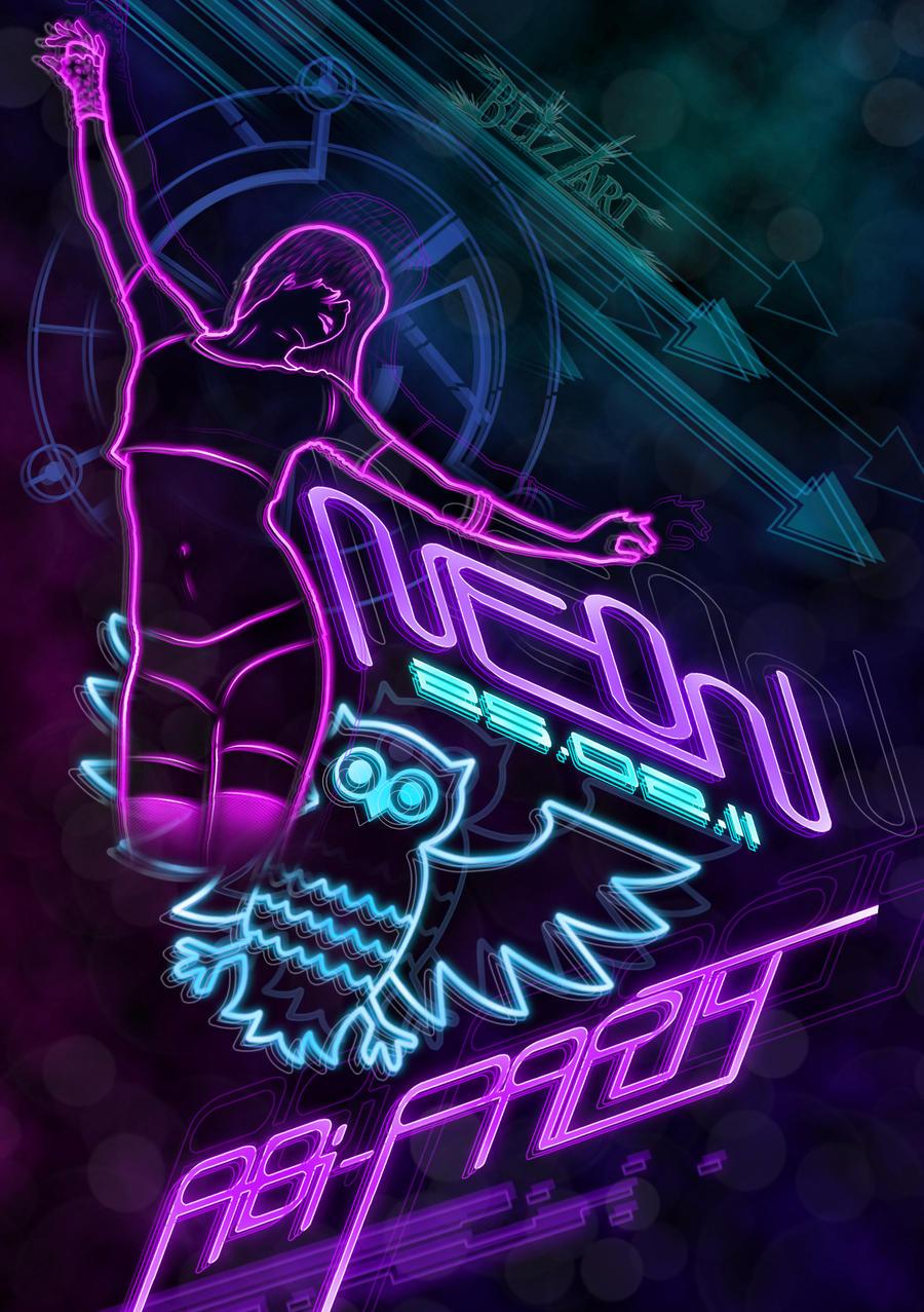 Neon Party Invitation was luxury invitations ideas
