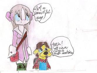 A GIRL AND A DOG by xeneizeman