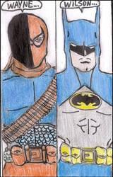 Deathstroke vs Batman by xeneizeman