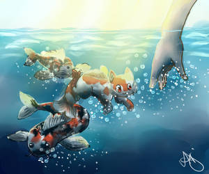 Koi fish(Contest Entry) by fifisart
