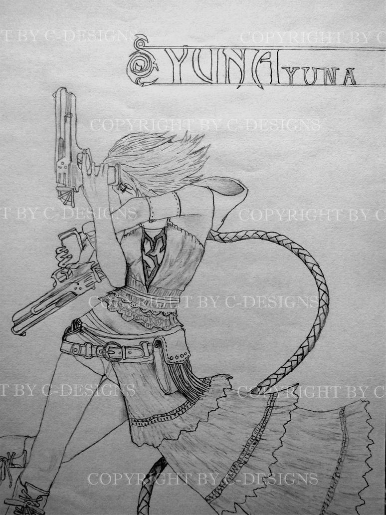 Yuna 1 - Final Fantasy X-2 by Drawer88 on DeviantArt
