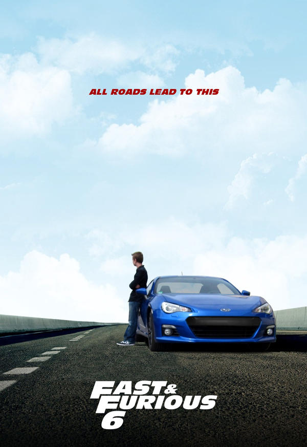 Fast And Furious 6 Poster Subaru BRZ By Drawer88