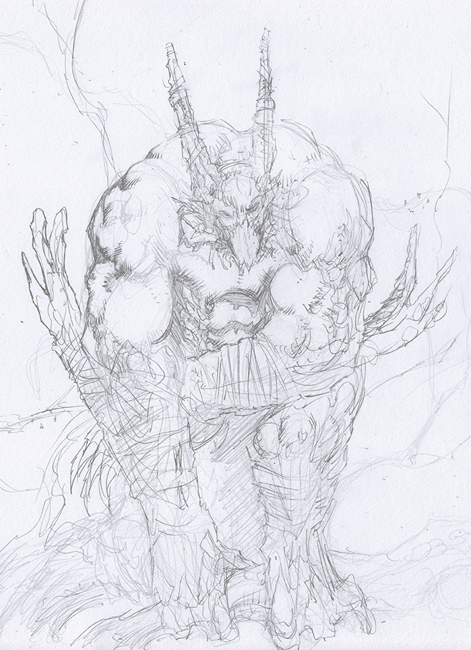 Creature Pencils by crossbonestyle