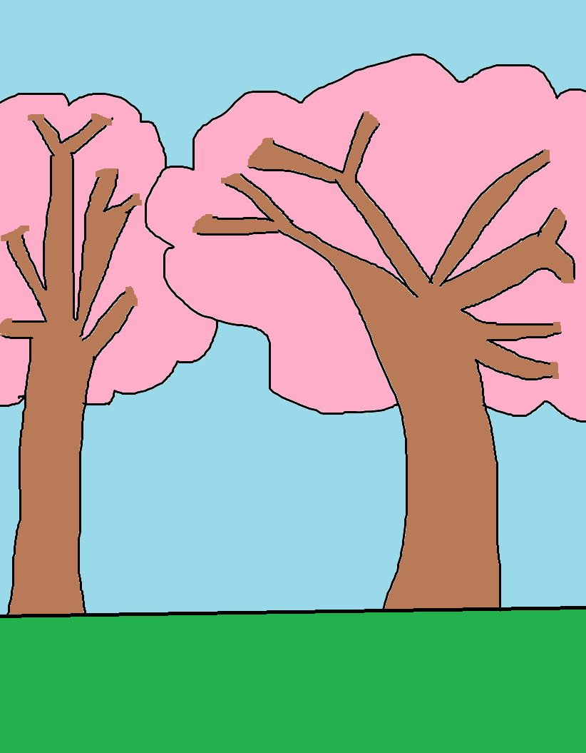 David and Lisa trees by OffClaireBlue2001