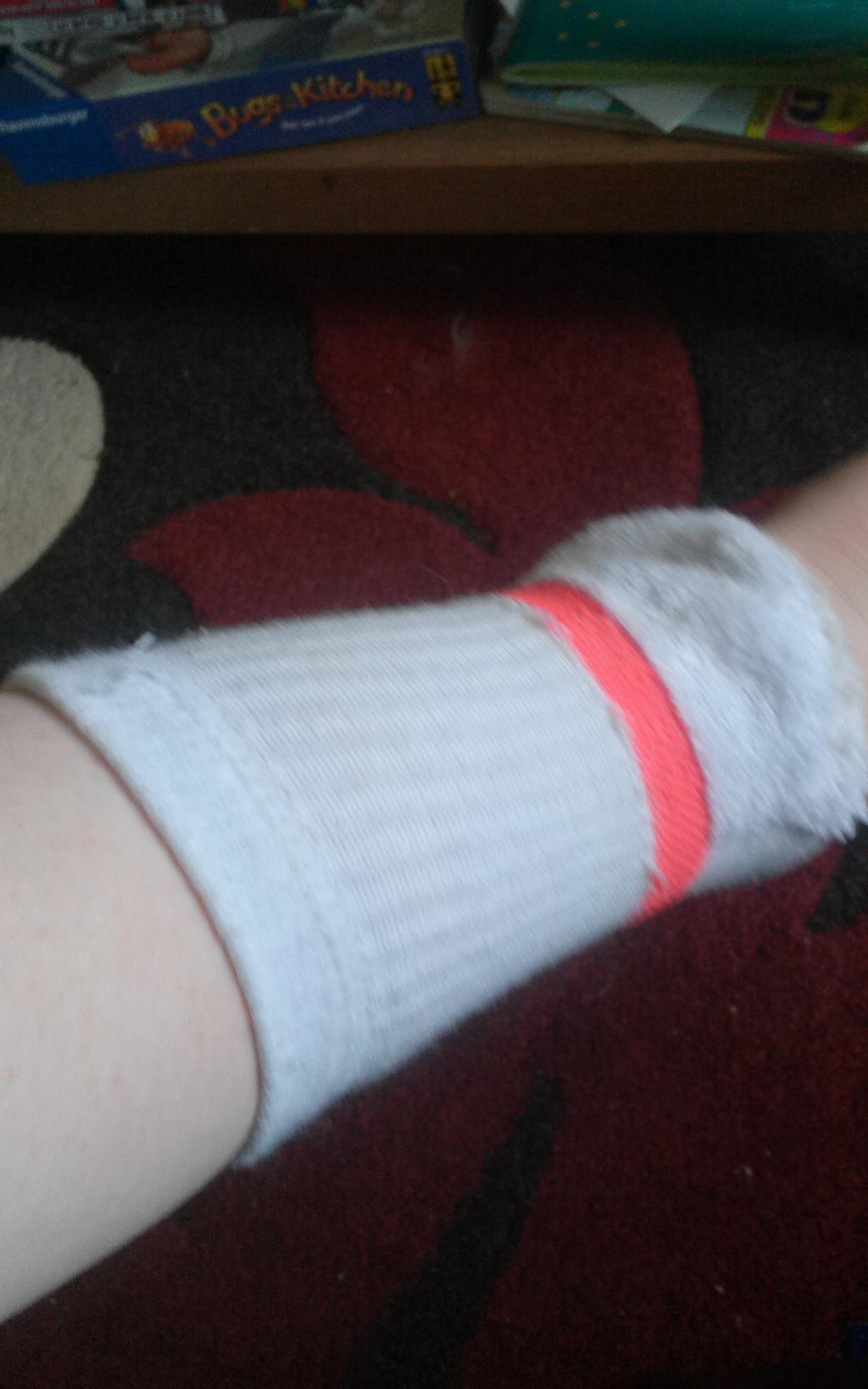 Wrist warmer from a sock by OffClaireBlue2001