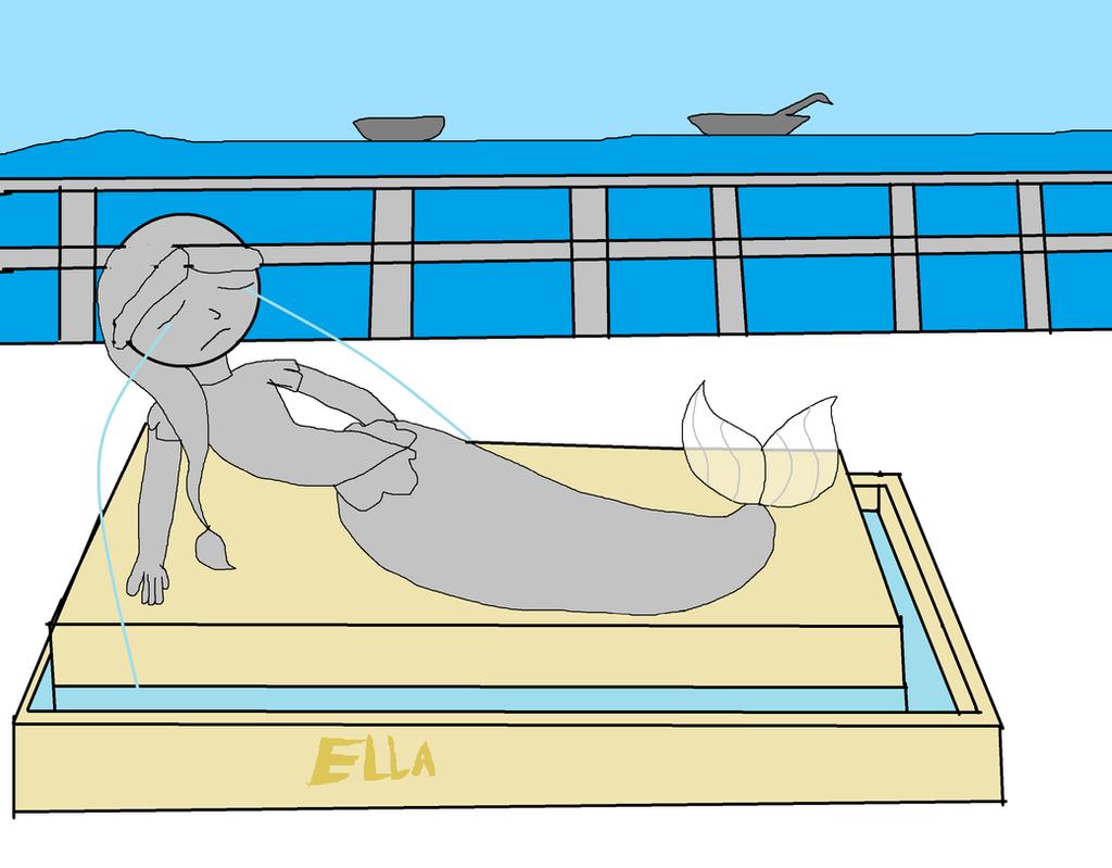 Ella the Crying Mermaid: DeviantART version by OffClaireBlue2001