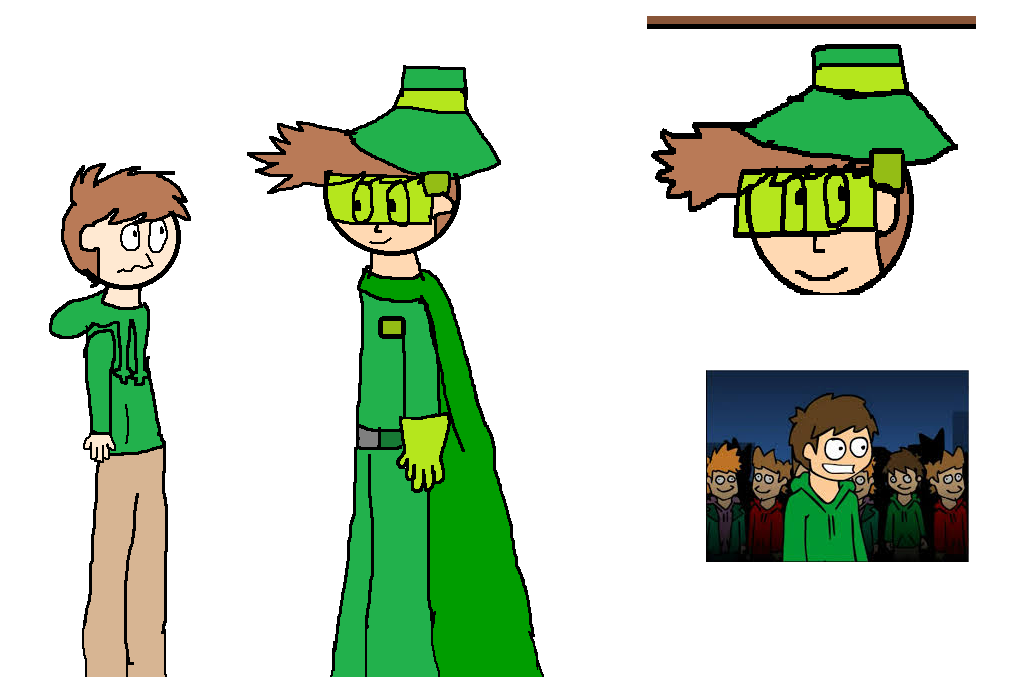 Edd and Green Wings Man by OffClaireBlue2001