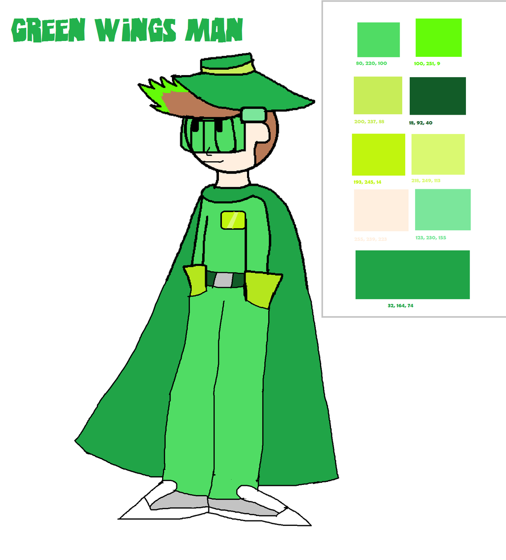 Green Wings Man 2017 by OffClaireBlue2001