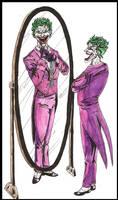 Joker in the ''mirror'' by MichaelLThomas
