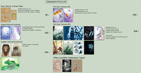 Commission Price List by Lychnobia