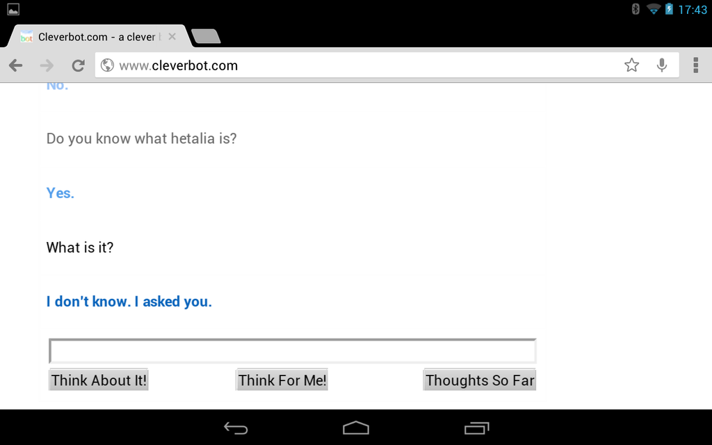 cleverbot be smarter will you. by dantania-dan