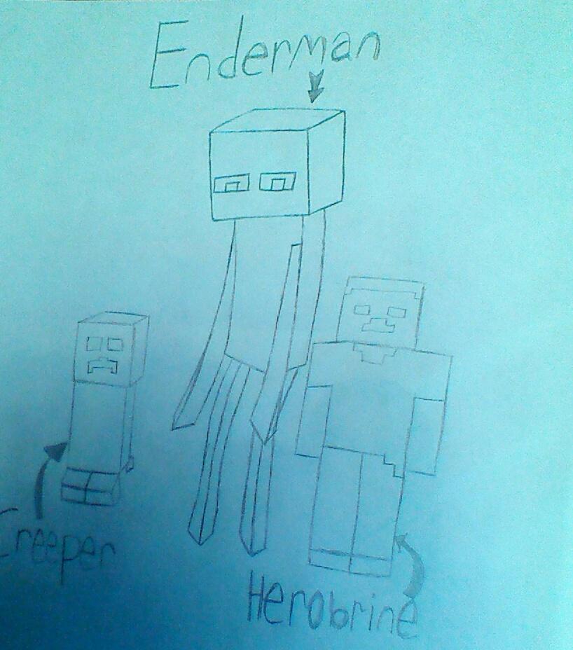 my random minecraft drawing by dantania-dan